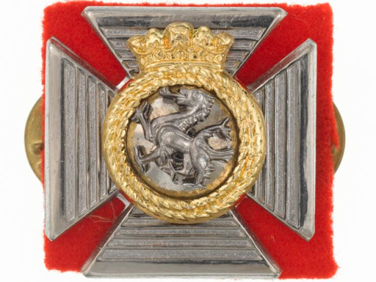 Collar badge, The Duke of Edinburgh's Royal Regiment, c1980