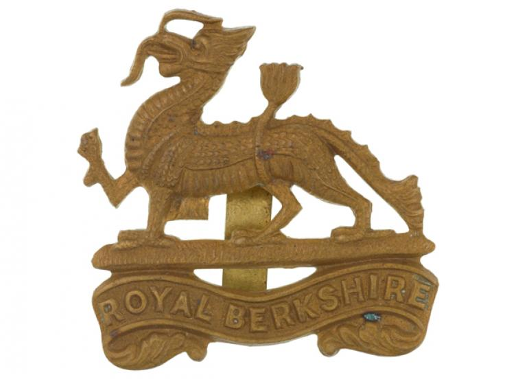 Cap badge, The Royal Berkshire Regiment (Princess Charlotte of Wales's), c1940