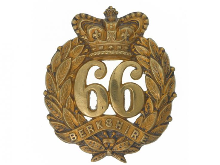 Other ranks' glengarry badge, 66th (Berkshire) Regiment of Foot, c1874