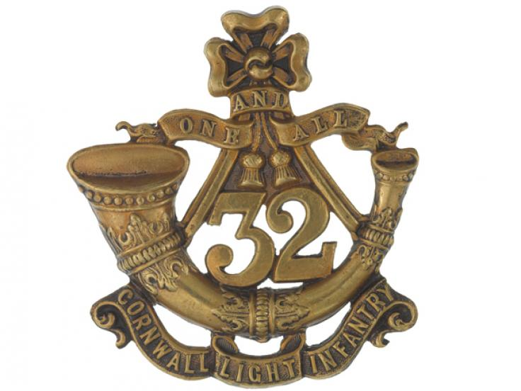 Glengarry badge, 32nd (Cornwall) Light Infantry, c1874