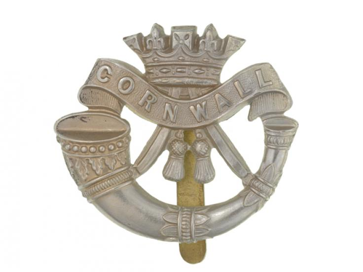 Cap badge, The Duke of Cornwall's Light Infantry, c1914