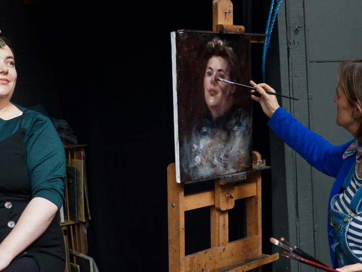 Portrait painting: Rowena Griffiths MBE