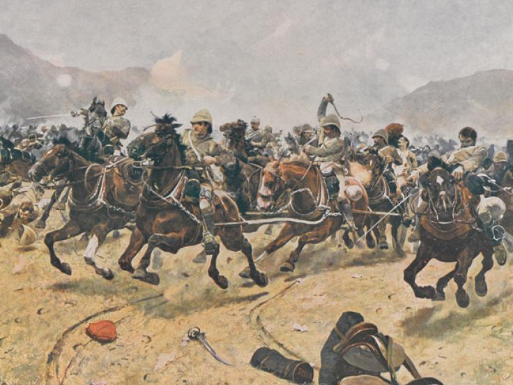 Saving the guns at Maiwand, 1880