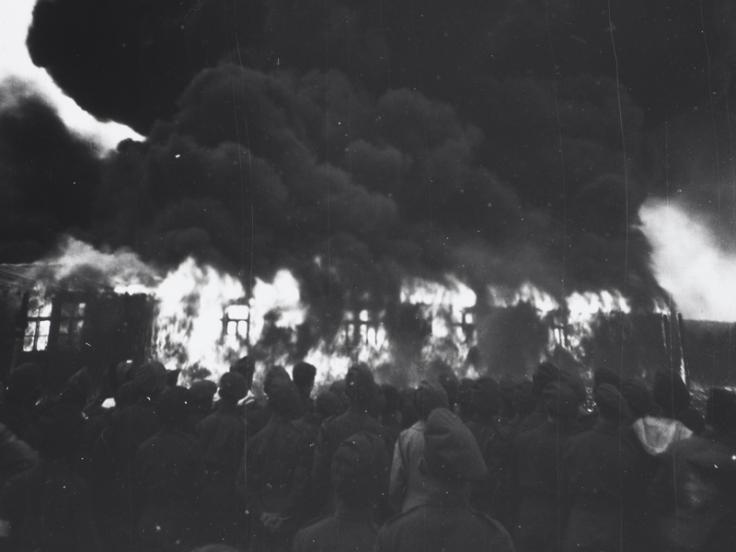 The burning of Belsen, May 1945