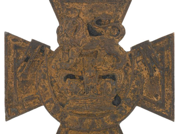 Crimean War Victoria Cross recovered from the River Thames foreshore in 2015