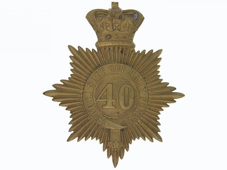 Shako plate, 40th (2nd Somersetshire) Regiment, c1855