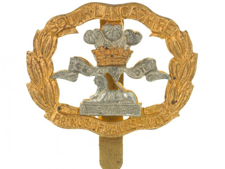 Beret badge, The South Lancashire Regiment, c1950
