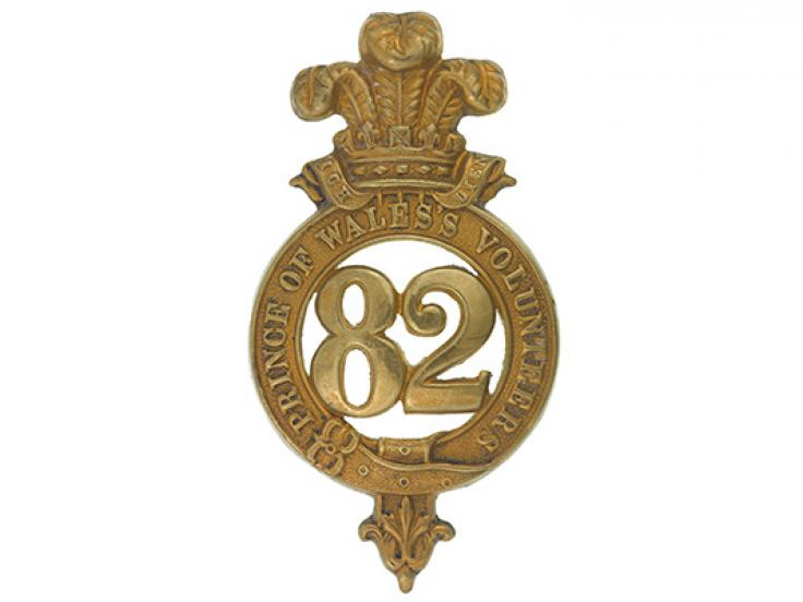 Glengarry badge, 82nd Regiment of Foot (Prince of Wales's Volunteers), c1874