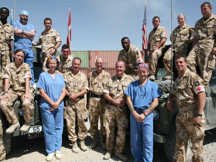Medical staff at Camp Bastion in Helmand, c2008