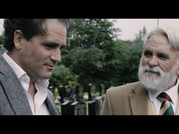 Levison Wood (left) with his dad Lev Wood Senior