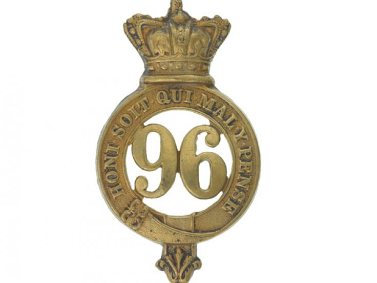 Glengarry badge, other ranks, 96th Regiment of Foot, c1874