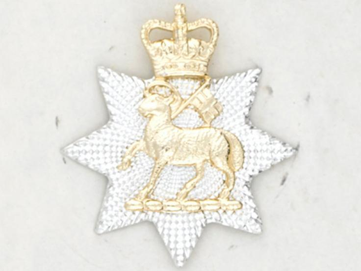 Collar badge, The Queen's Royal Surrey Regiment, 1961