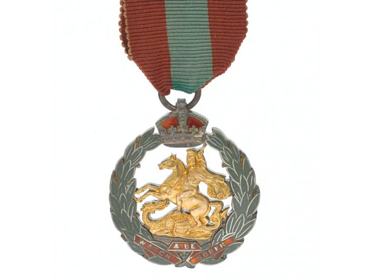Royal Army Temperance Association medal for 20 years' abstinence awarded to Private J H Smith, The Royal Munster Fusiliers, 1915