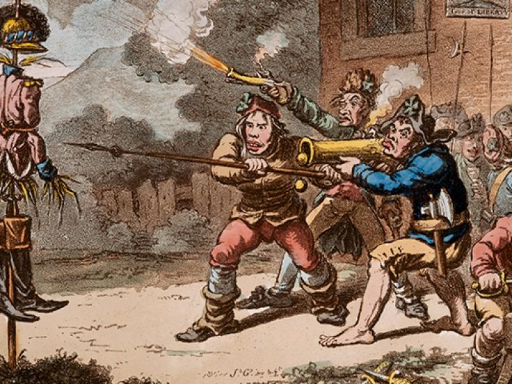 'United Irishmen in training', 1798