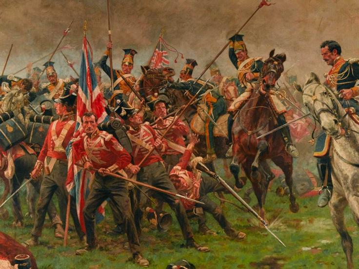 Soldiers of The 3rd (East Kent) Regiment of Foot (The Buffs) defending the Colours at Albuera, 1811