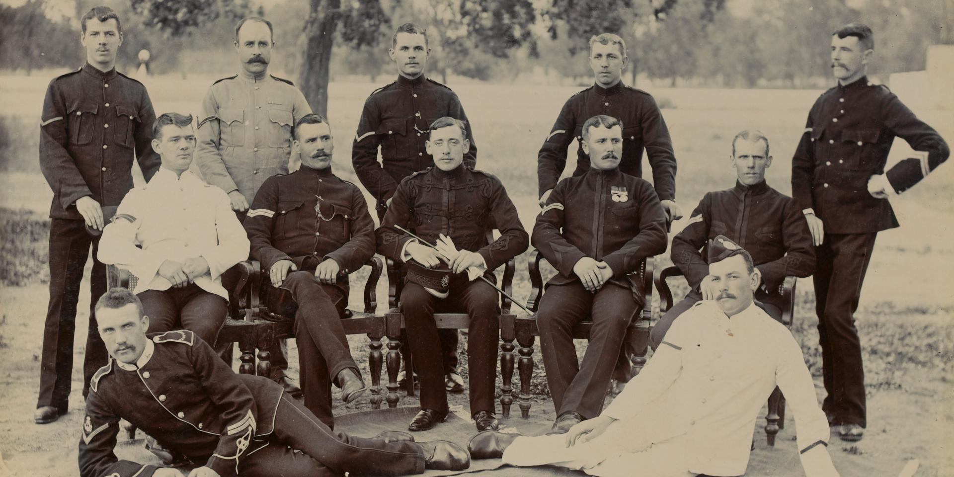 Corporals of C Company, The Bedfordshire Regiment, 1880s
