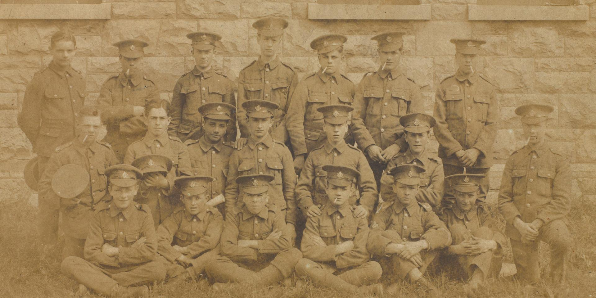 Bandsmen of the 1st Battalion Connaught Rangers, Ireland, 1917