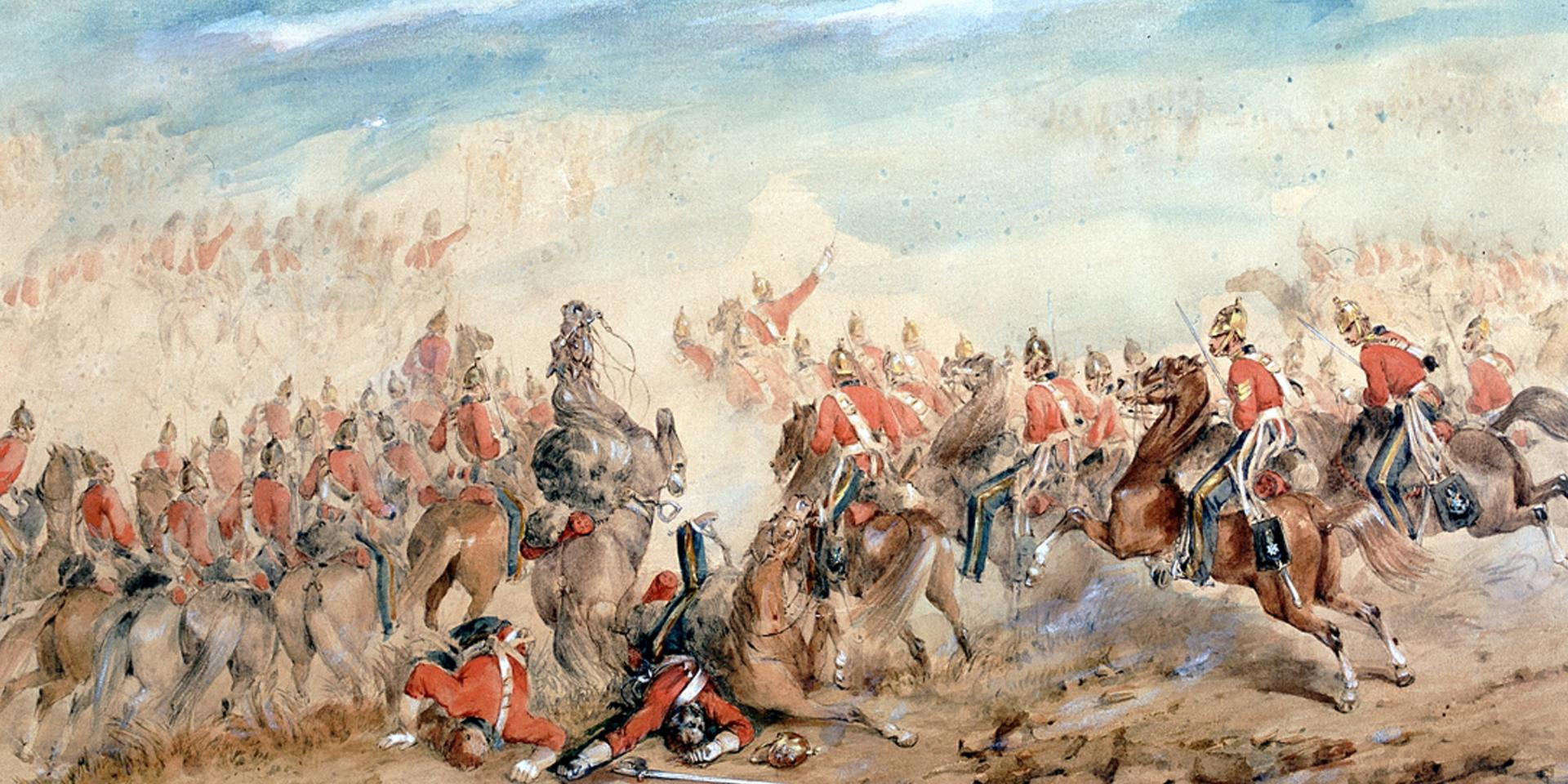 The Charge of the Heavy Brigade, Balaklava, 1854
