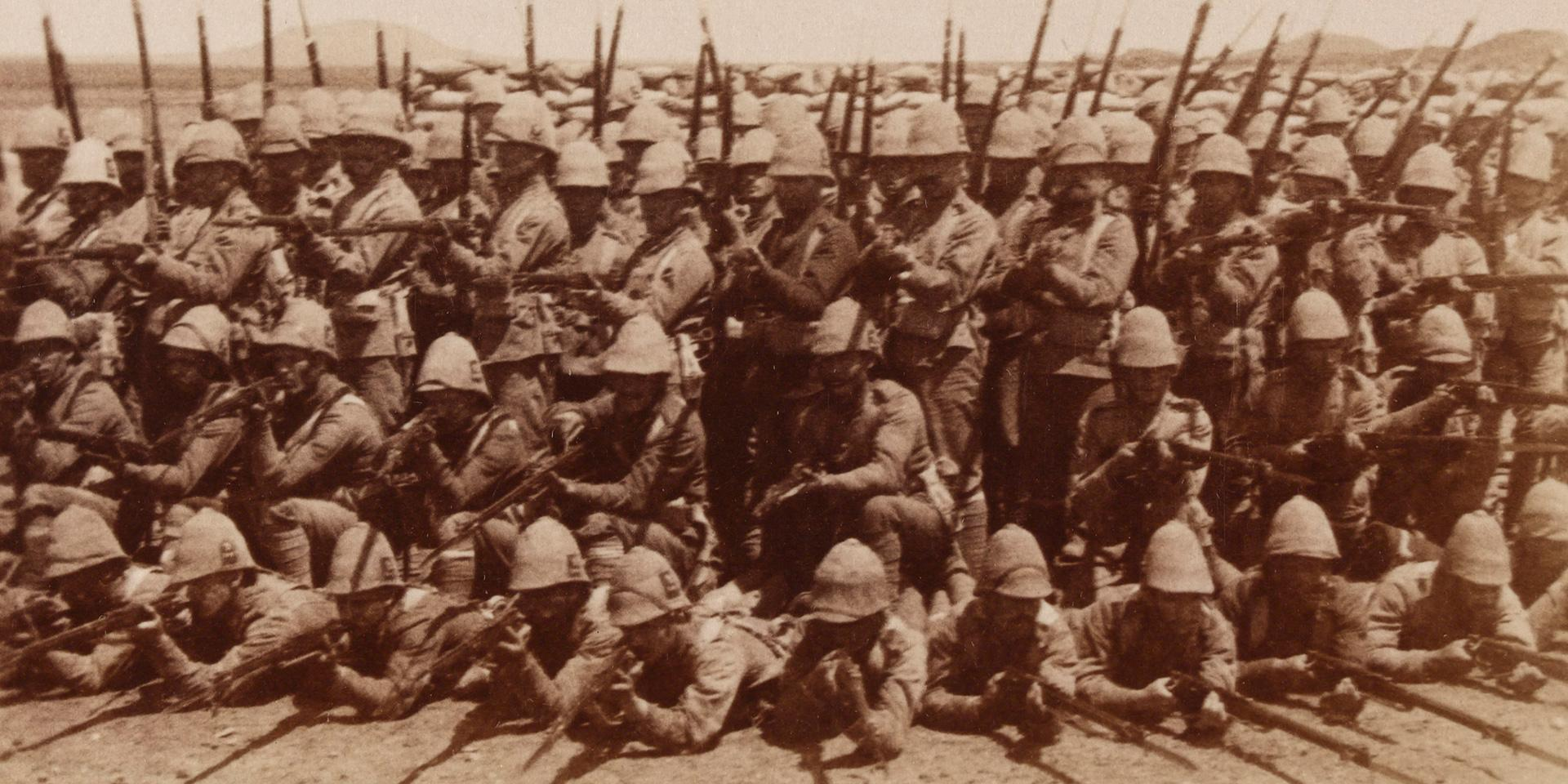 'Royal Munster Fusiliers - a bristling British Front-Boer War, South Africa', 1899 (c)