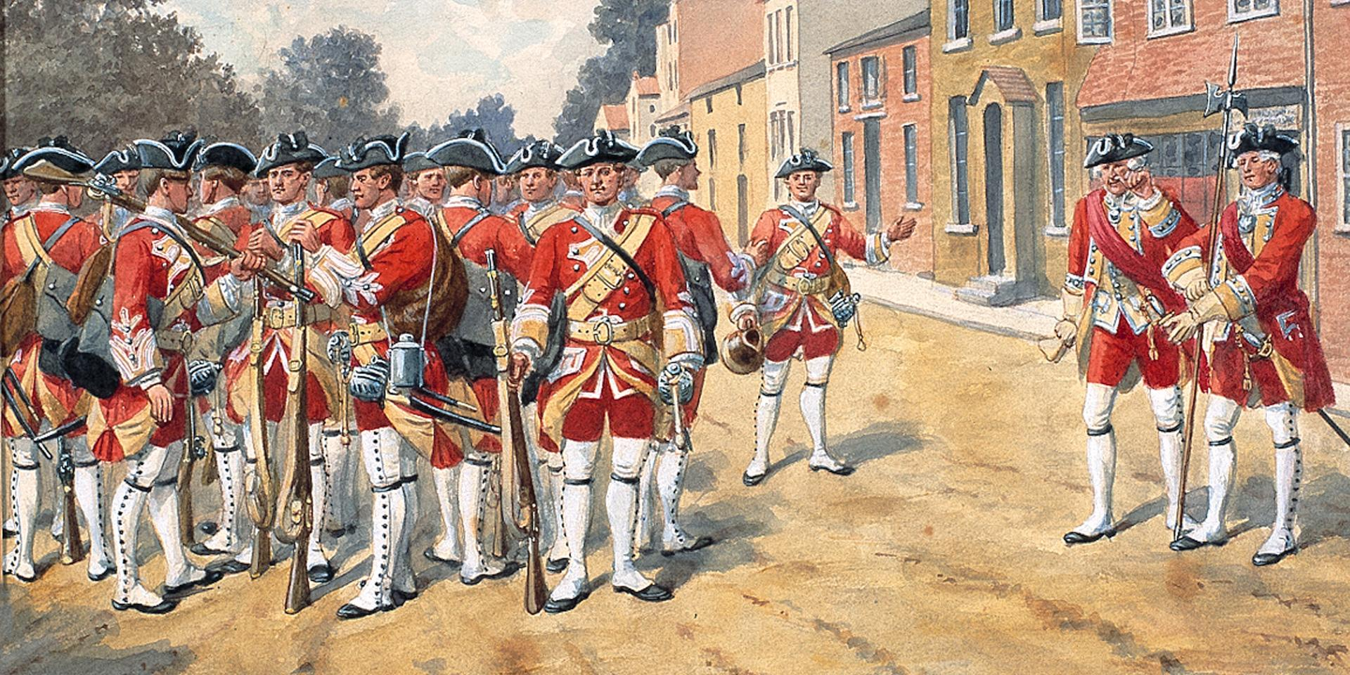 3rd (Kent) Regiment of Foot, 'The Buffs', 1751