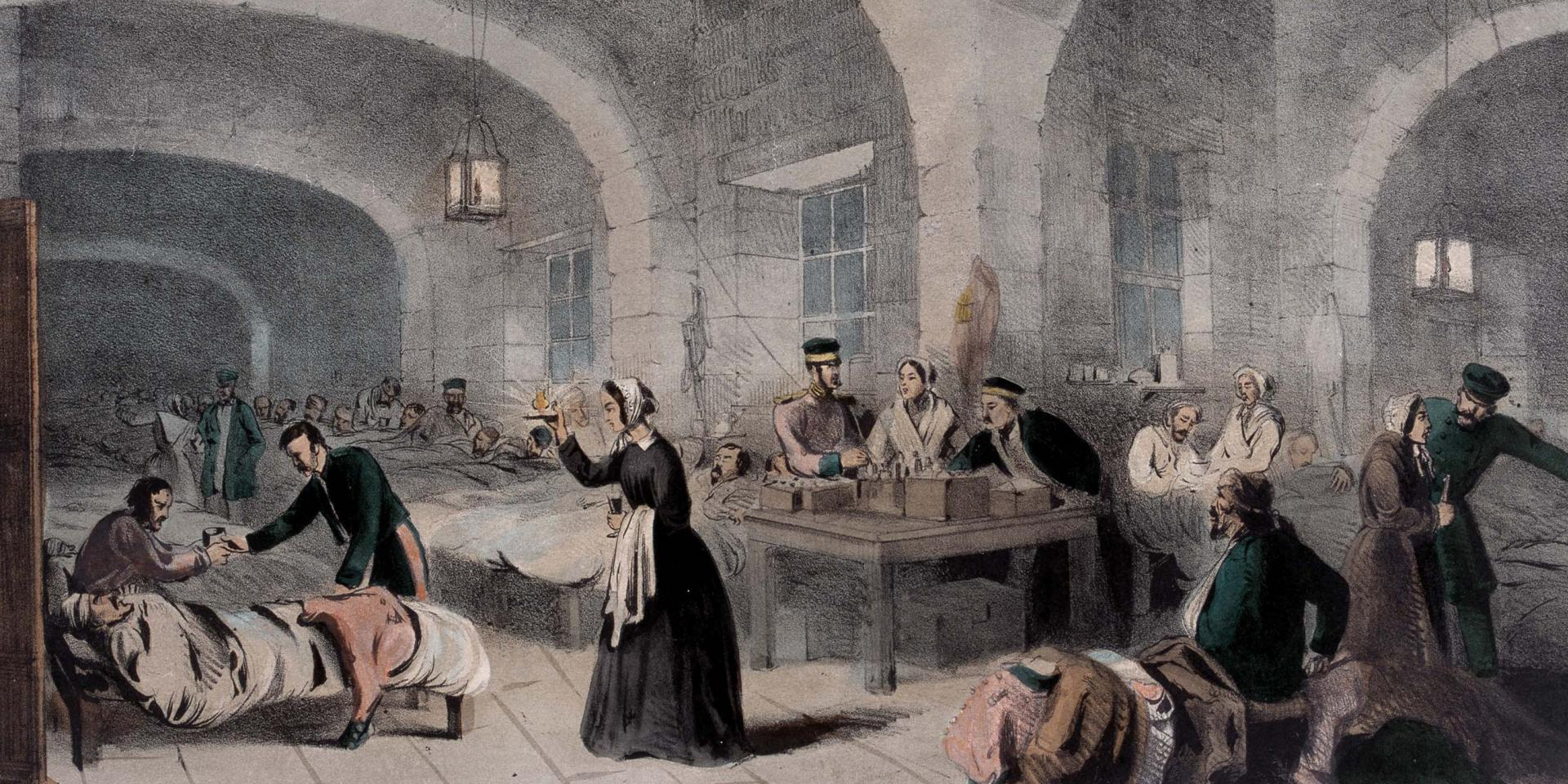 Florence Nightingale in the Military Hospital at Scutari, 1855