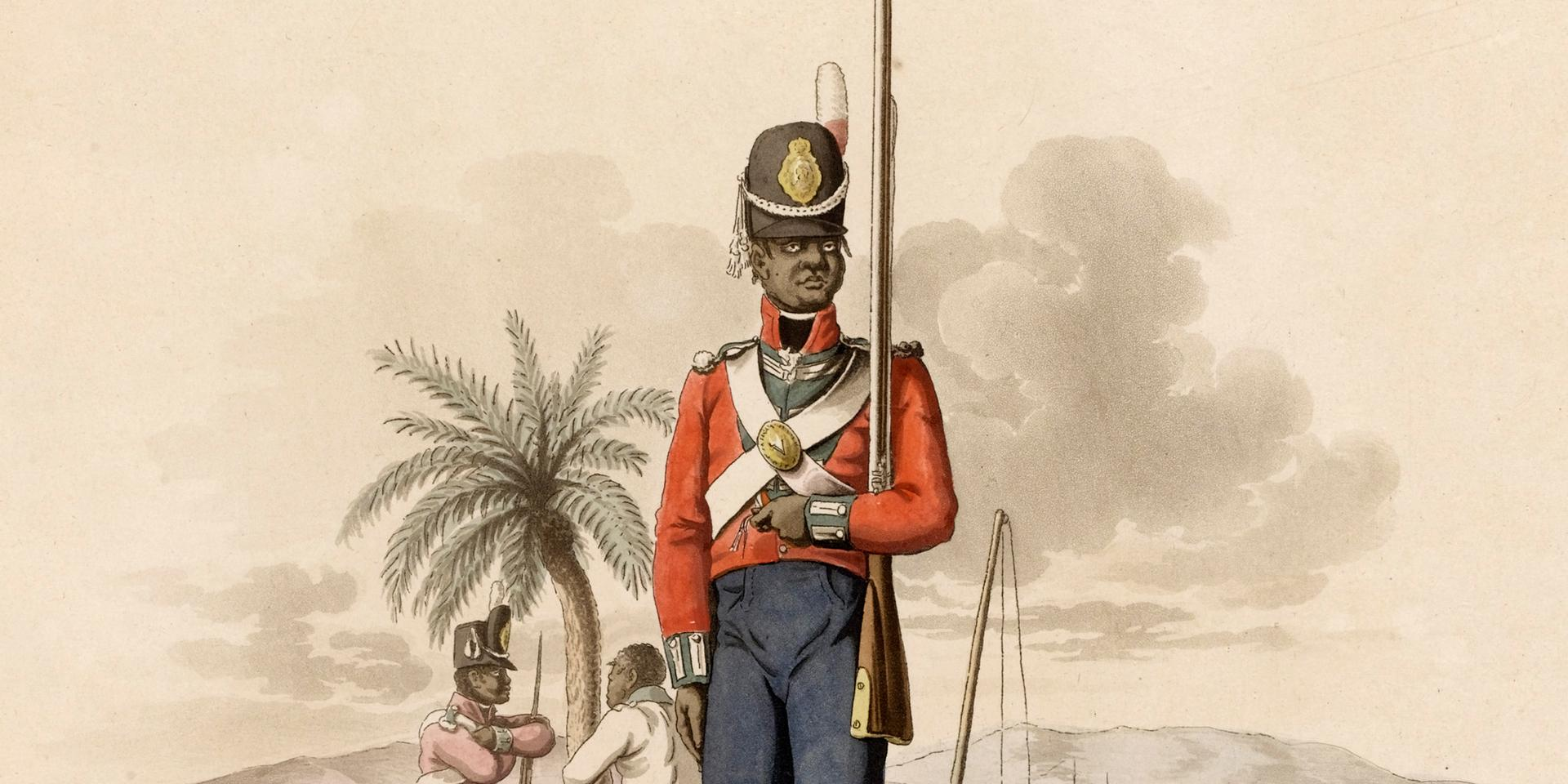 Private of the 5th West India Regiment, c1800