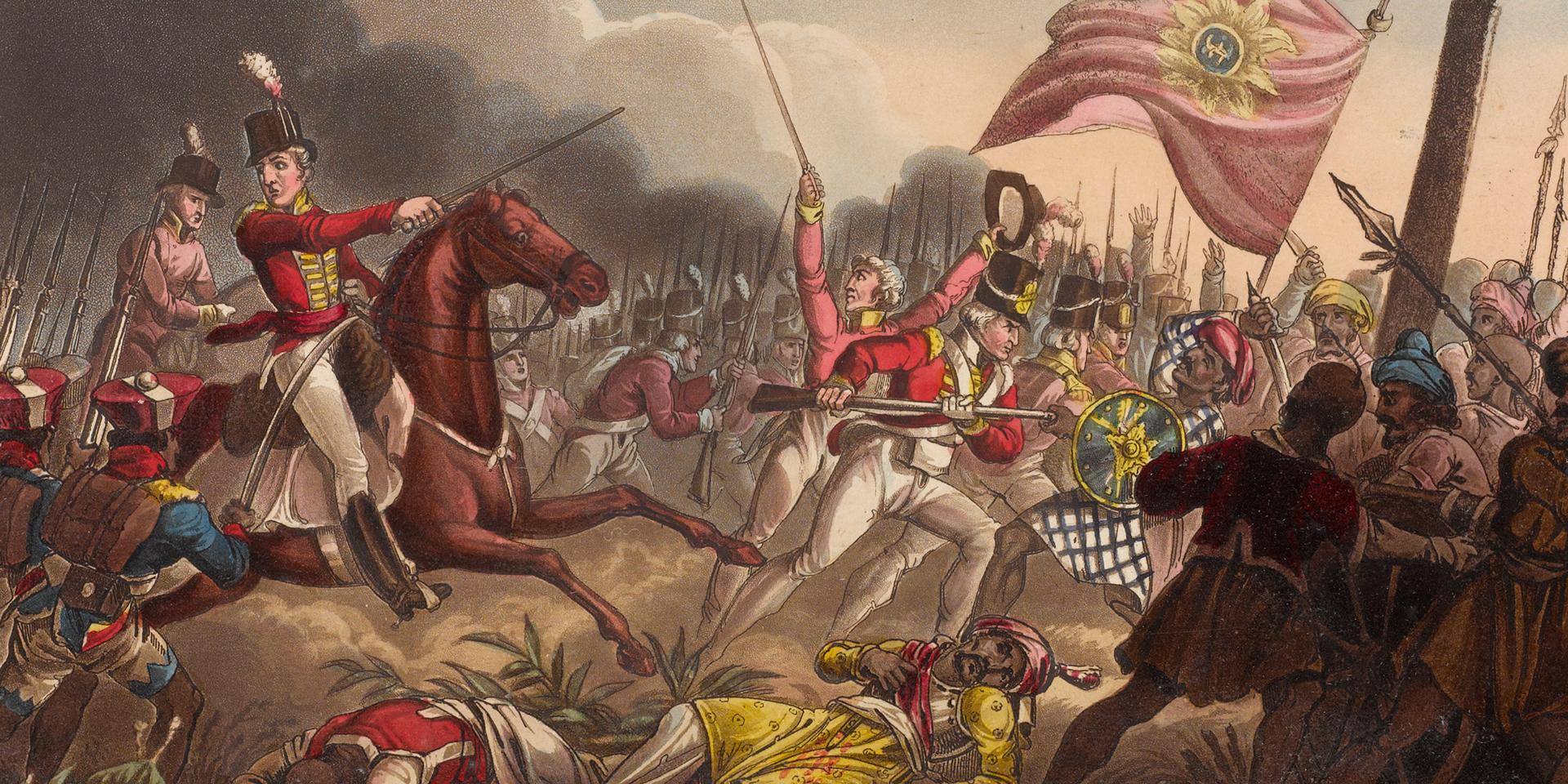 Wellington at the Battle of Assaye, 23 September 1803