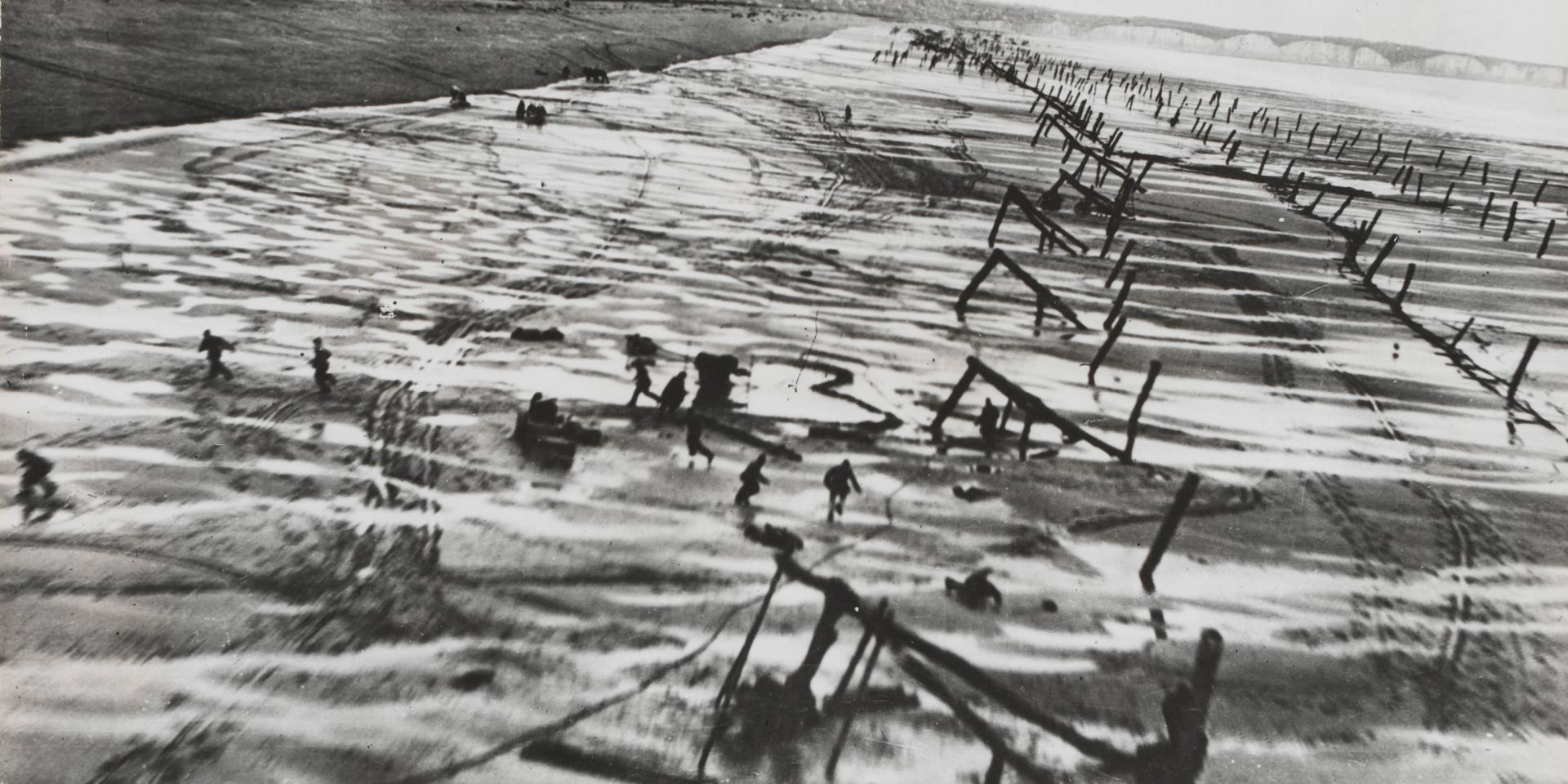 Aerial reconnaissance photograph of French coastal defences, 1944