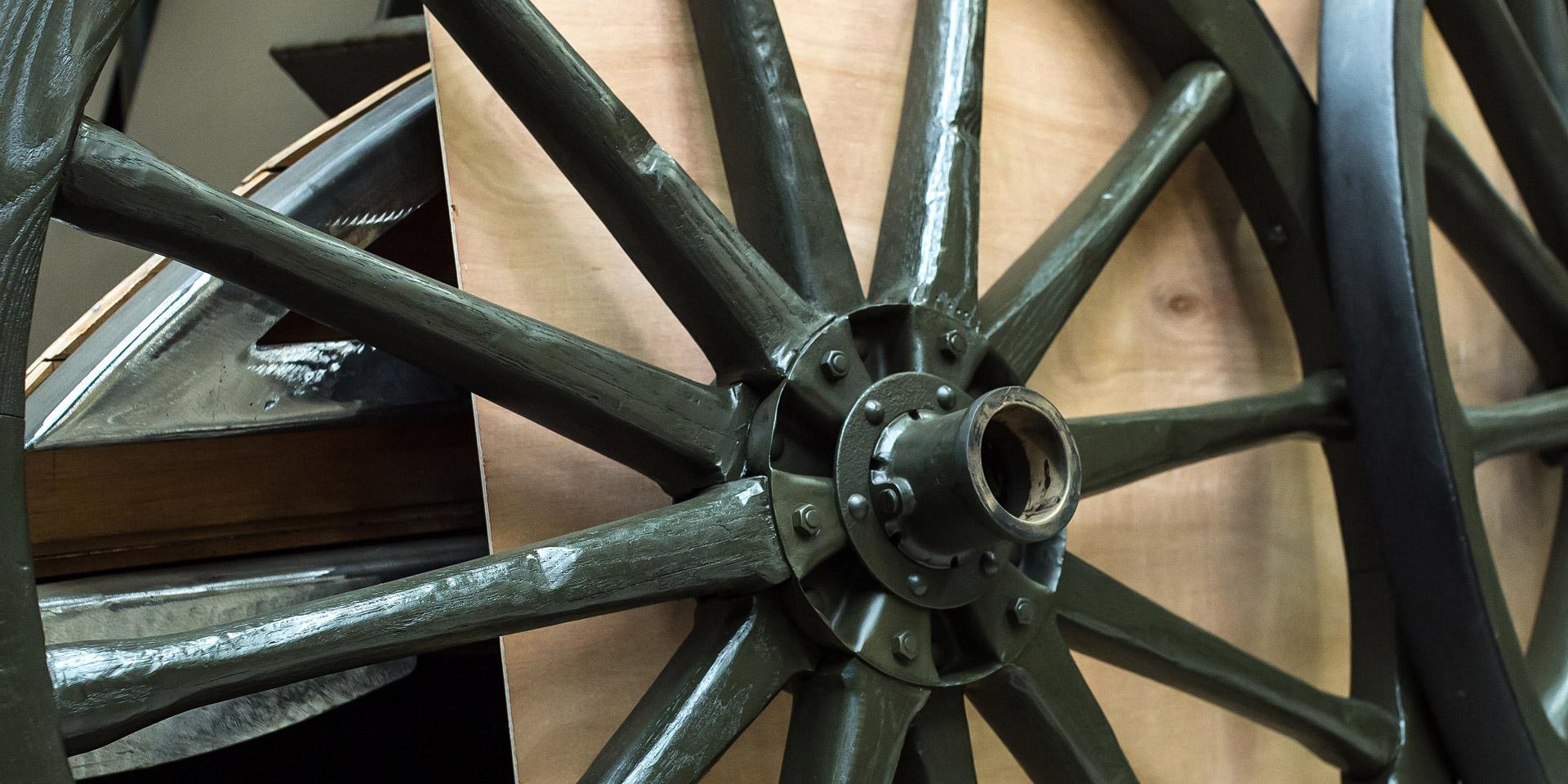 Wheels from a field gun