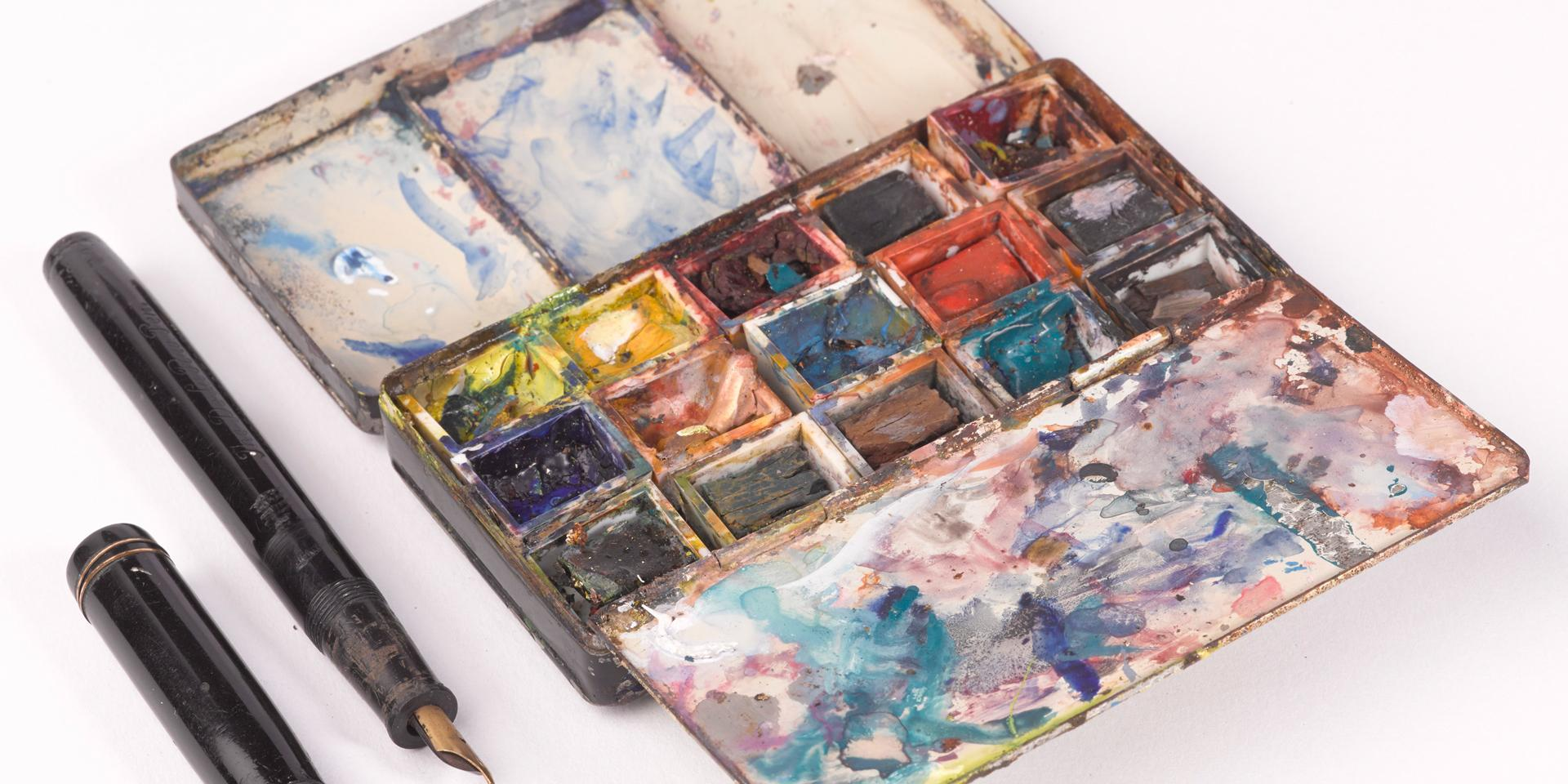 Watercolour box used by Sergeant Fred Darking, Royal Engineers c.1944