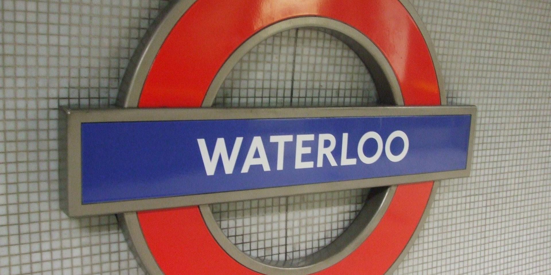 Waterloo underground station, London