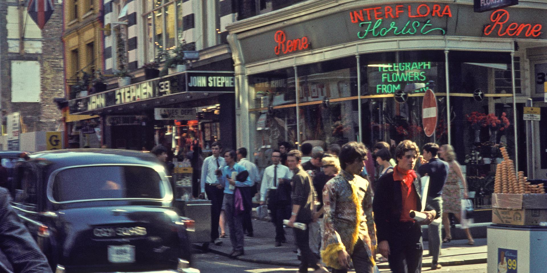 Carnaby Street in 1968