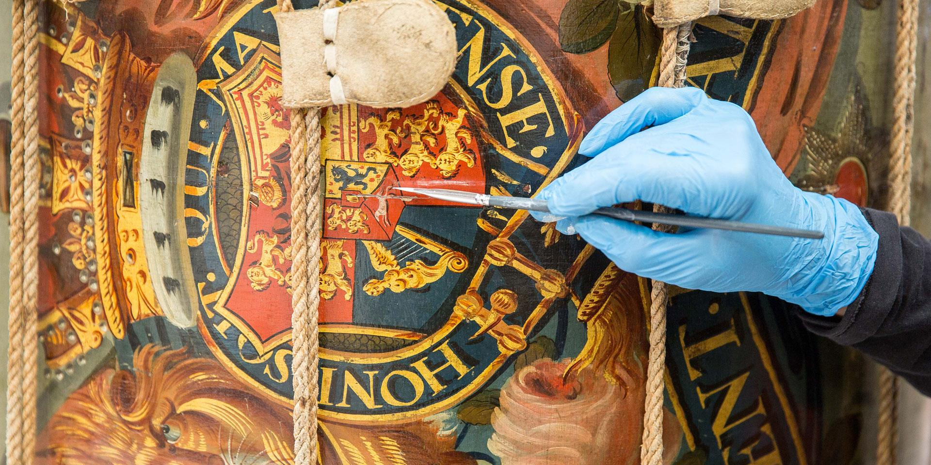 Conservation of a 19th-century side drum