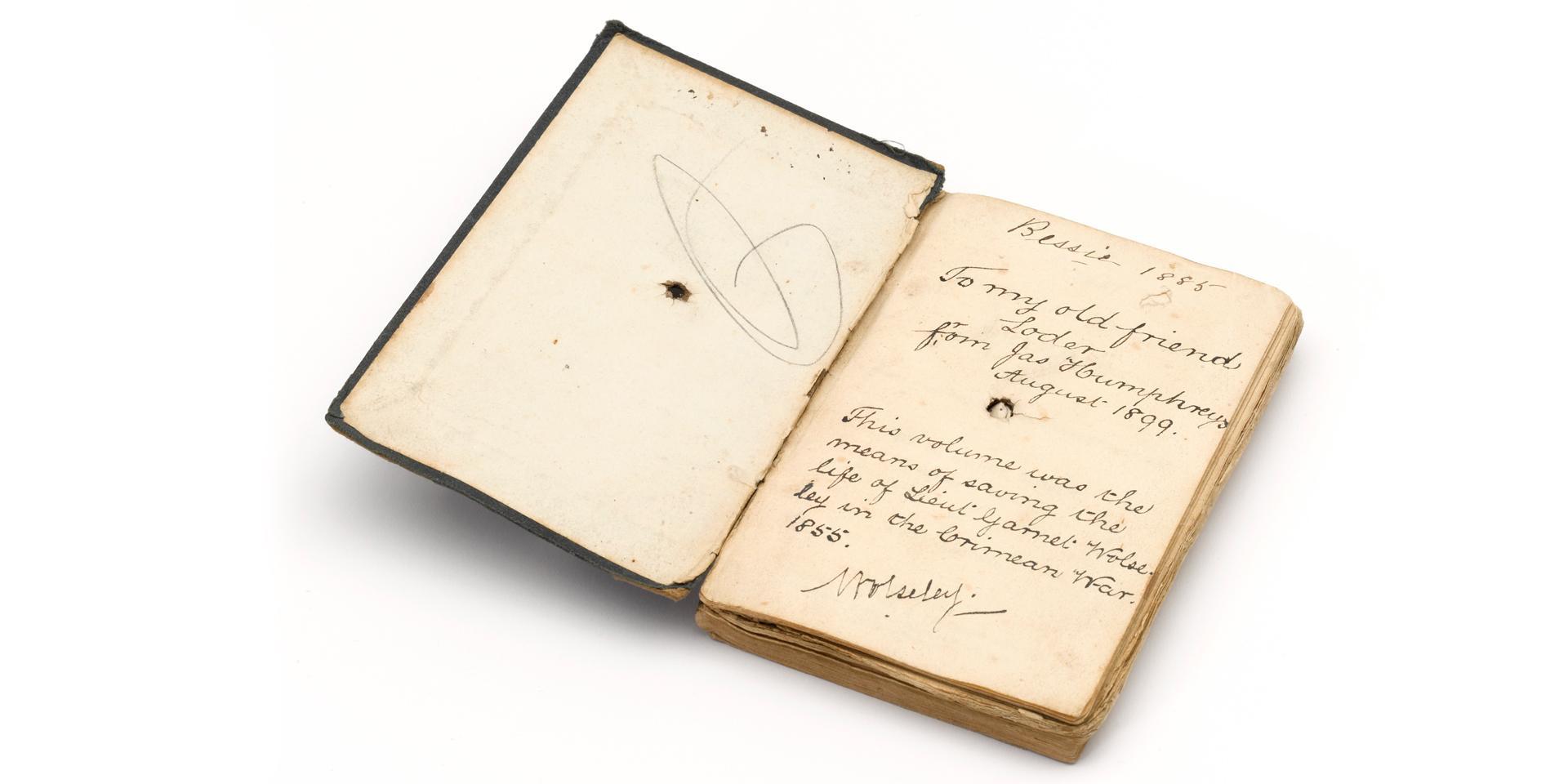French and English grammar book belonging to Lieutenant Garnet Joseph Wolseley, 1855