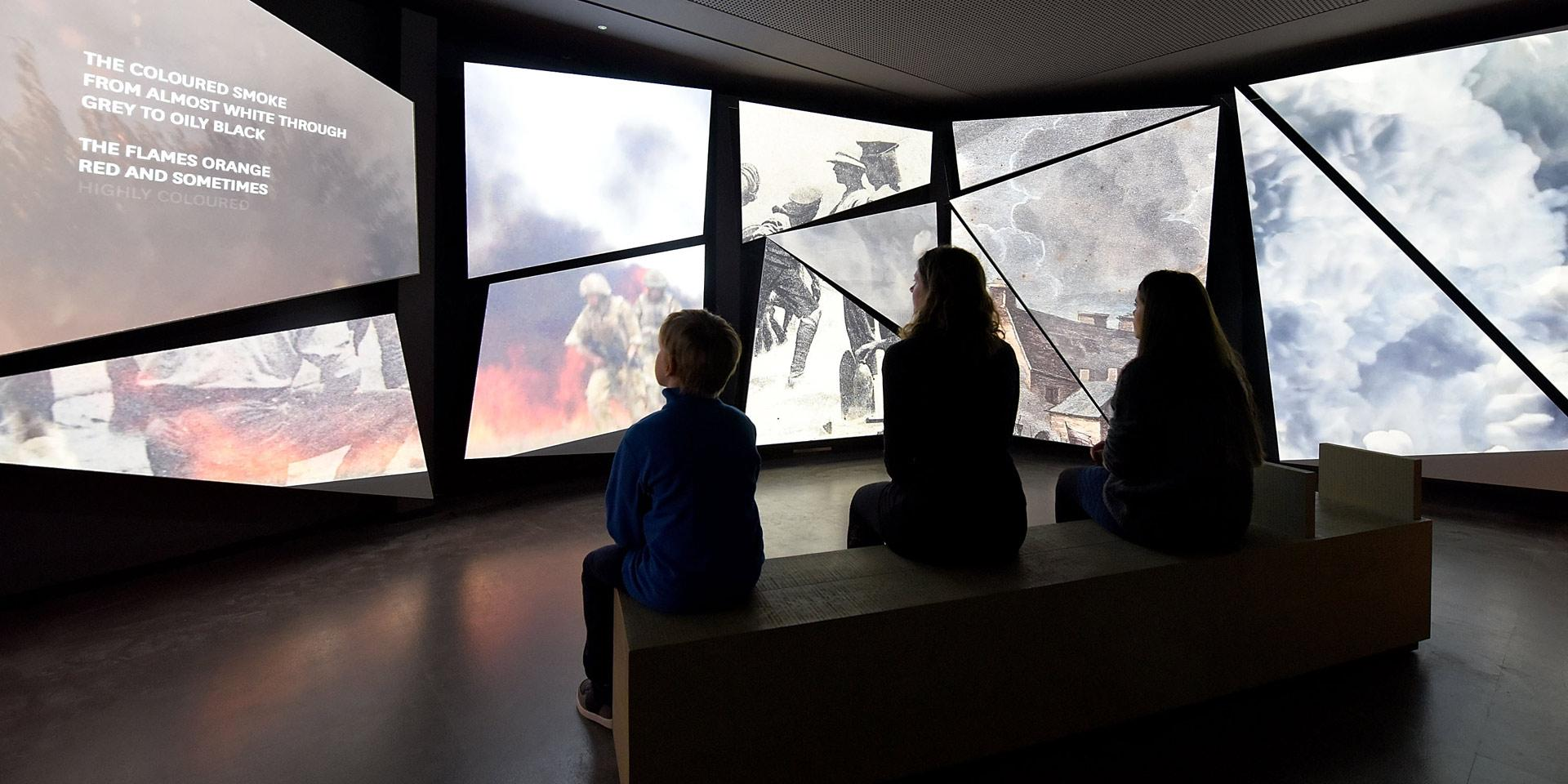 Visitors in the action theatre