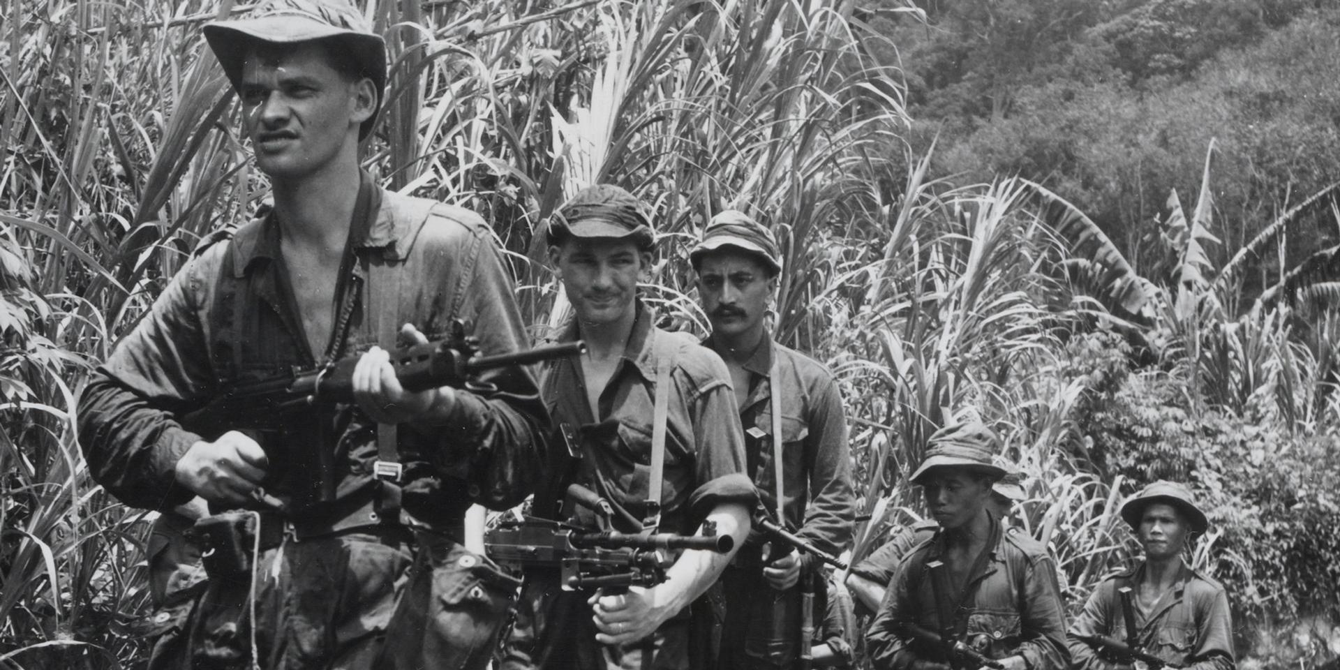 22 Squadron Special Air Service patrol the Malayan jungle, 1957