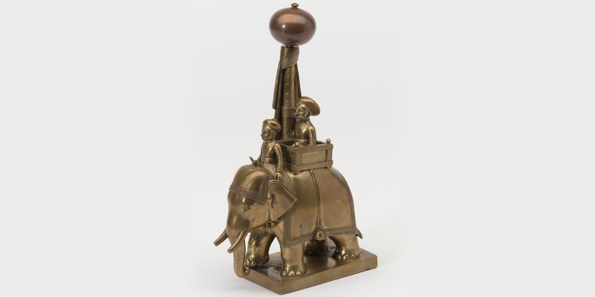 Solid-cast bronze war elephant, c1795