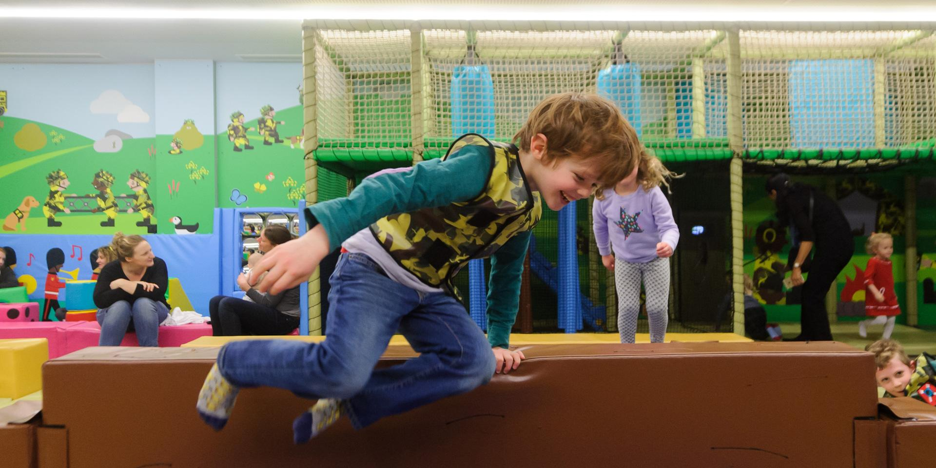 A child in Play Base
