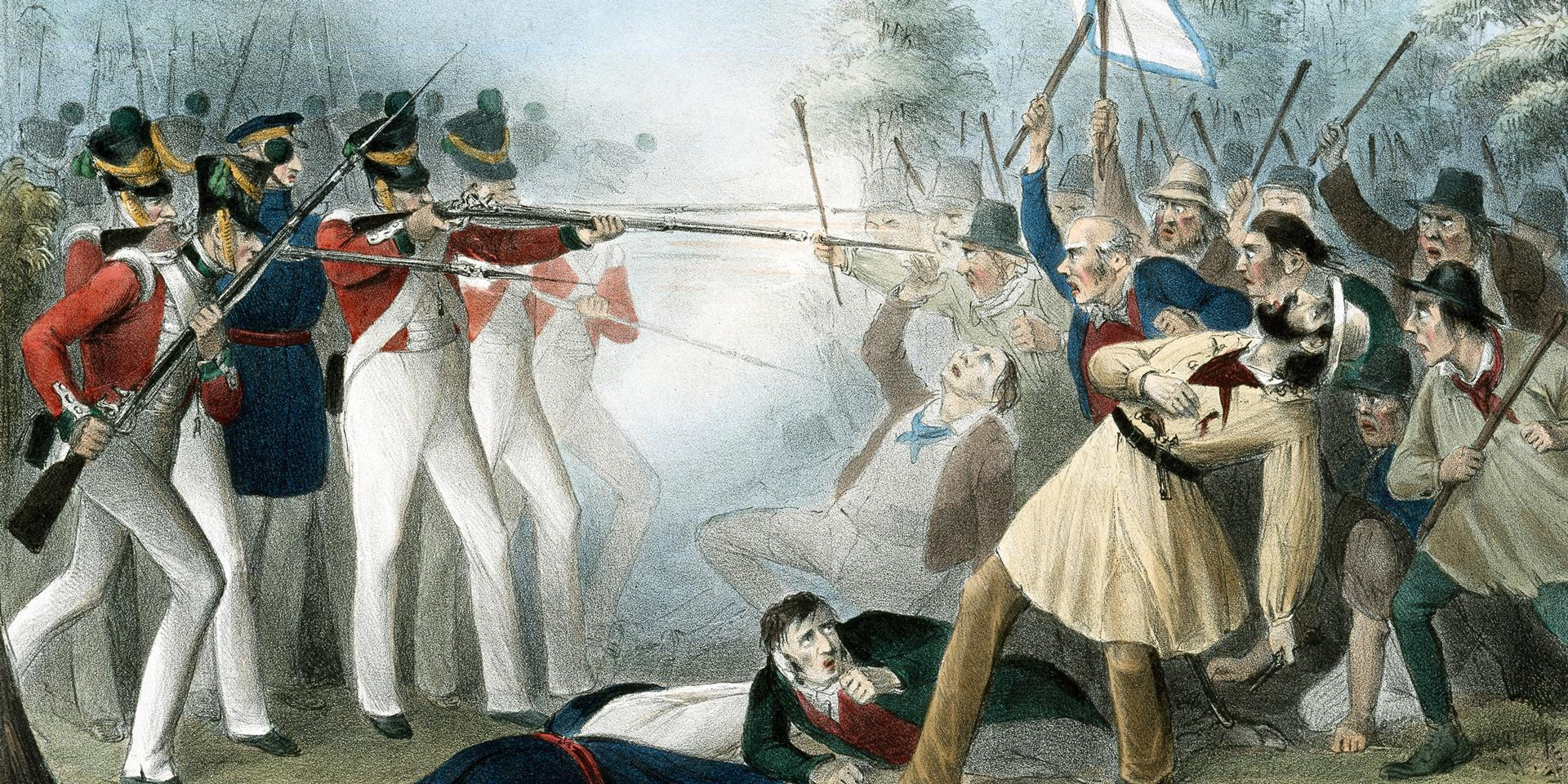 The 'Battle of Bossenden Wood' in Kent, 1838