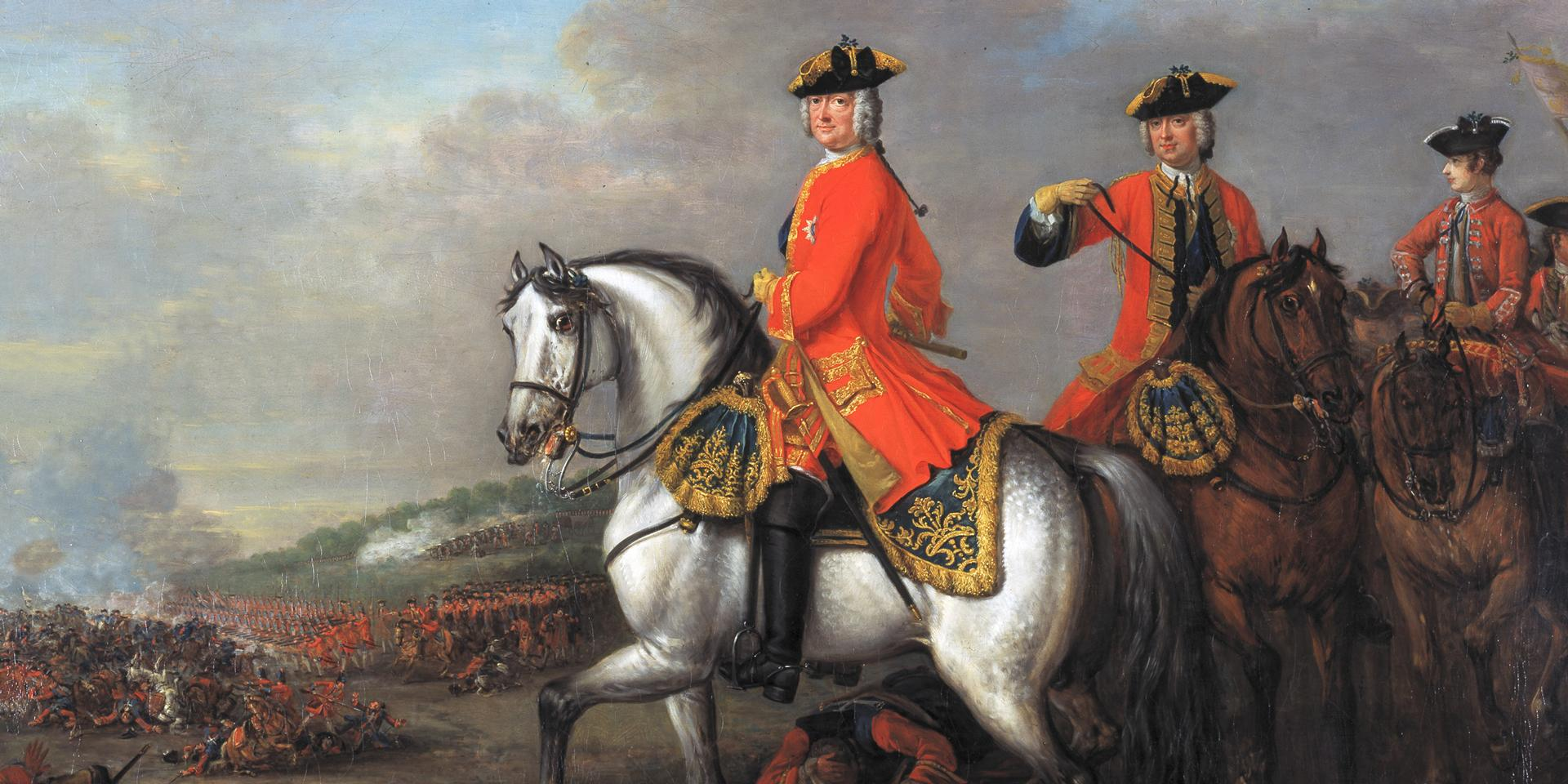 King George II at the Battle of Dettingen, 1743