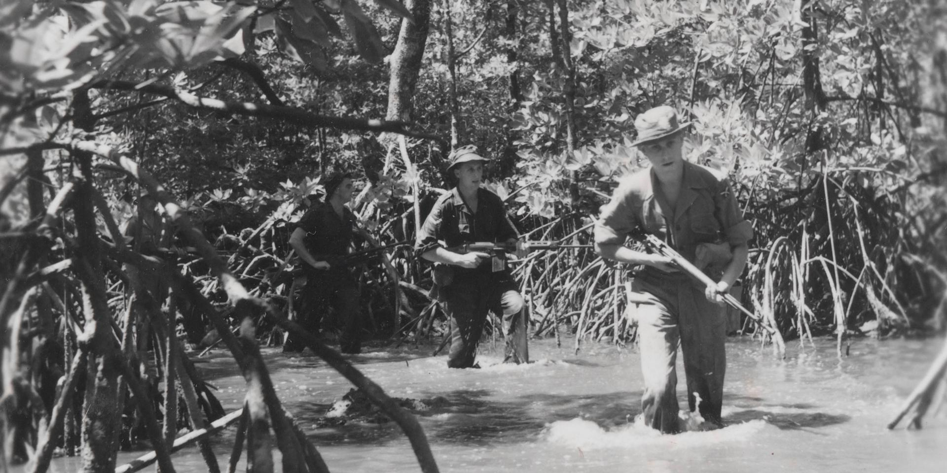 Army patrol in Malaya, 1957