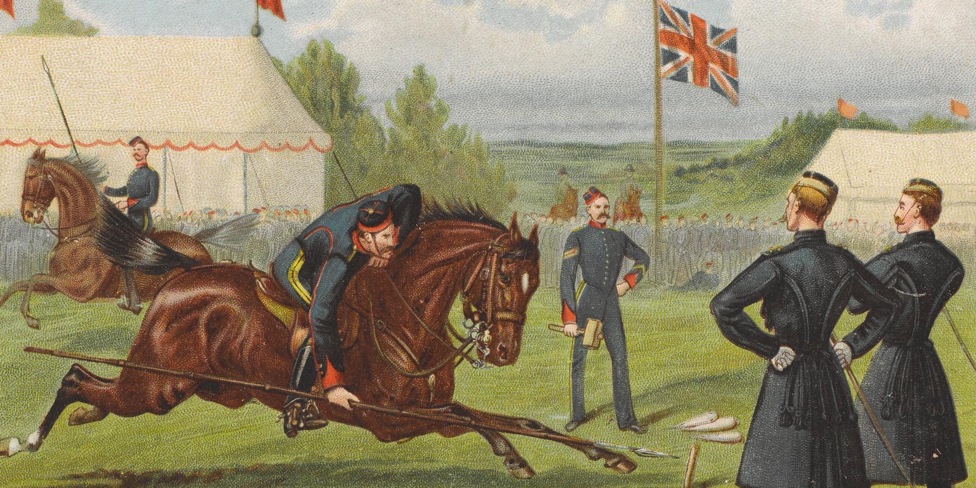 Tent-pegging, 1890