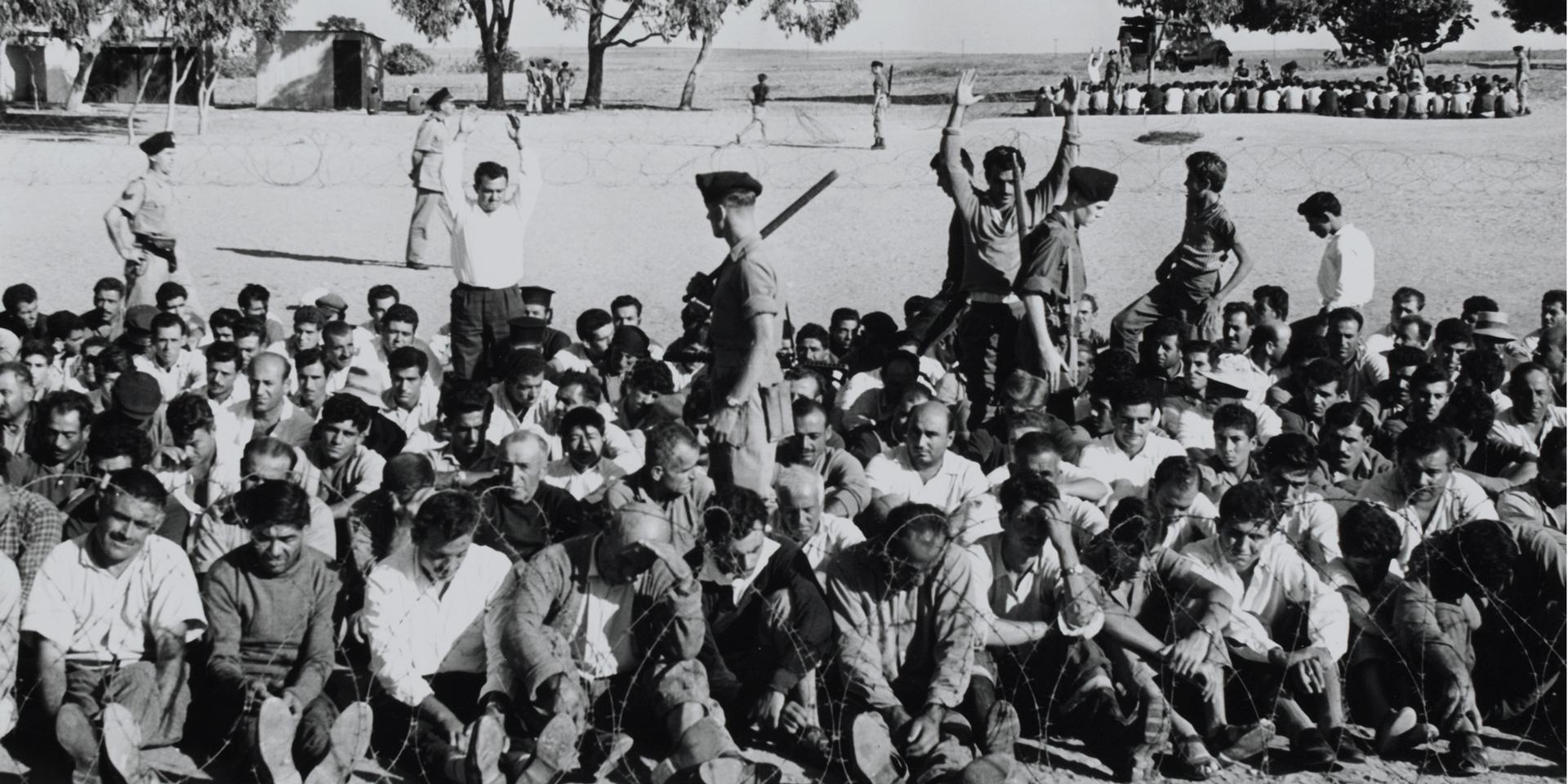 A round up operation near Famagusta, Cyprus, 9 October 1958