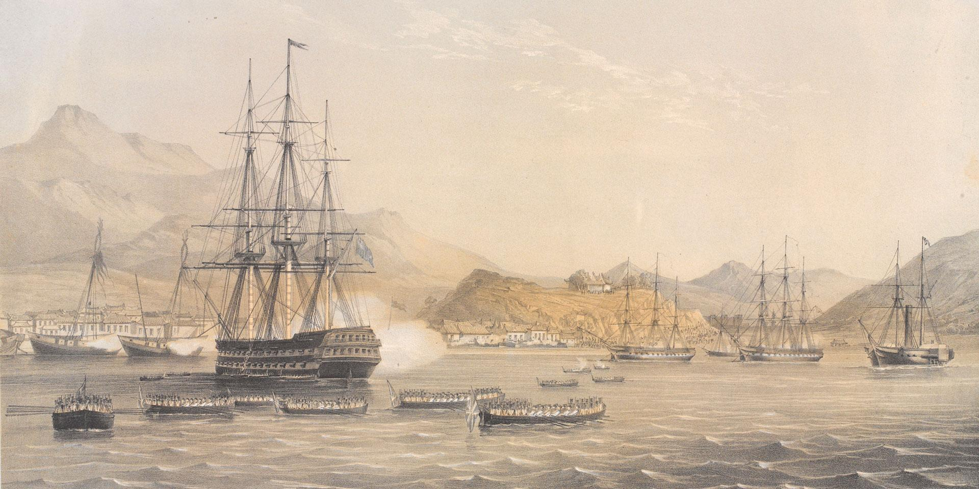 The taking of the island of Chusan, 1840