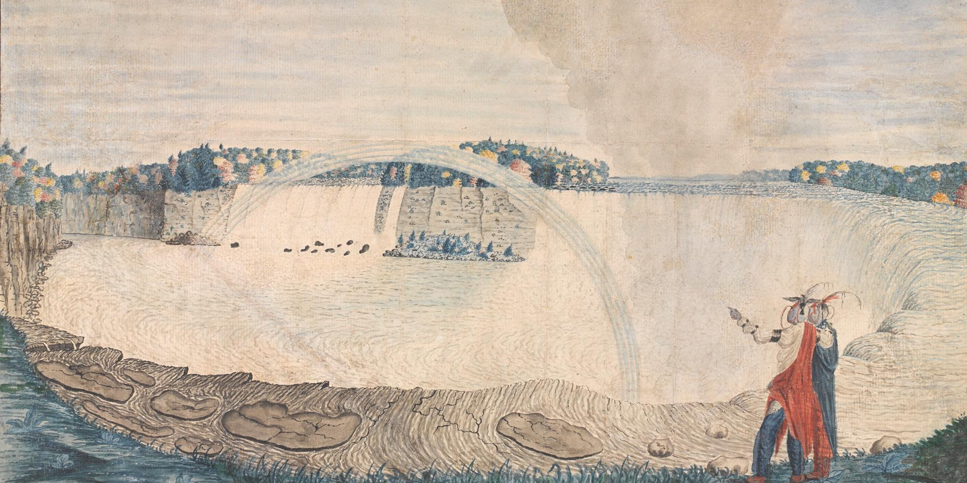 An East View of the Great Cataract of Niagara, 1762 Watercolour on paper by Captain Thomas Davies