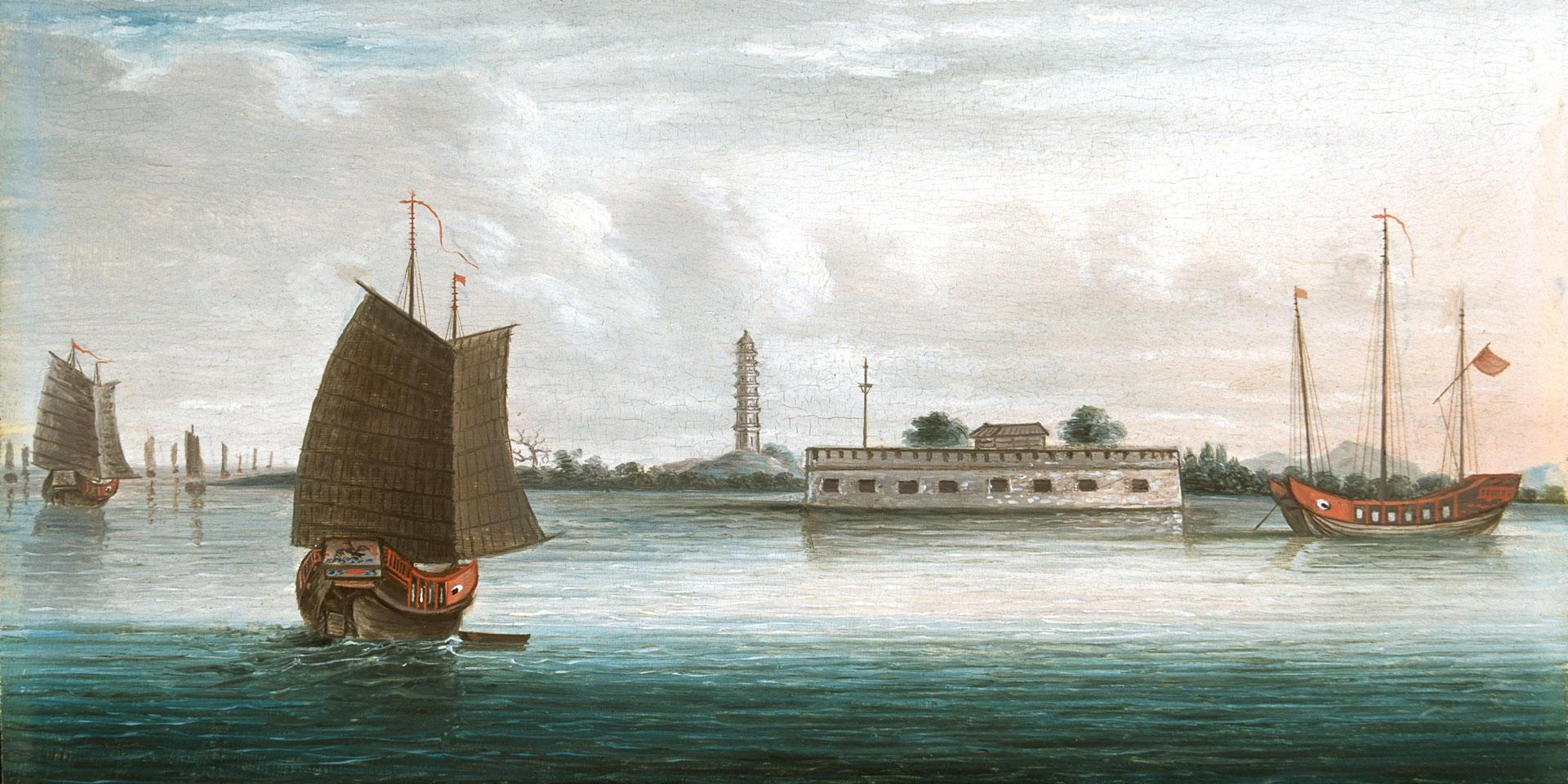 Shipping on the Canton River, 1840