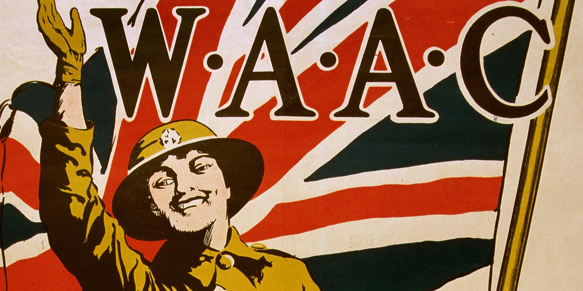 Recruiting poster for Women's Army Auxiliary Corps, 1918