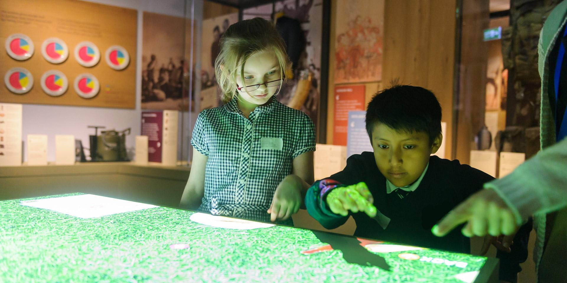 School children visiting Soldier gallery