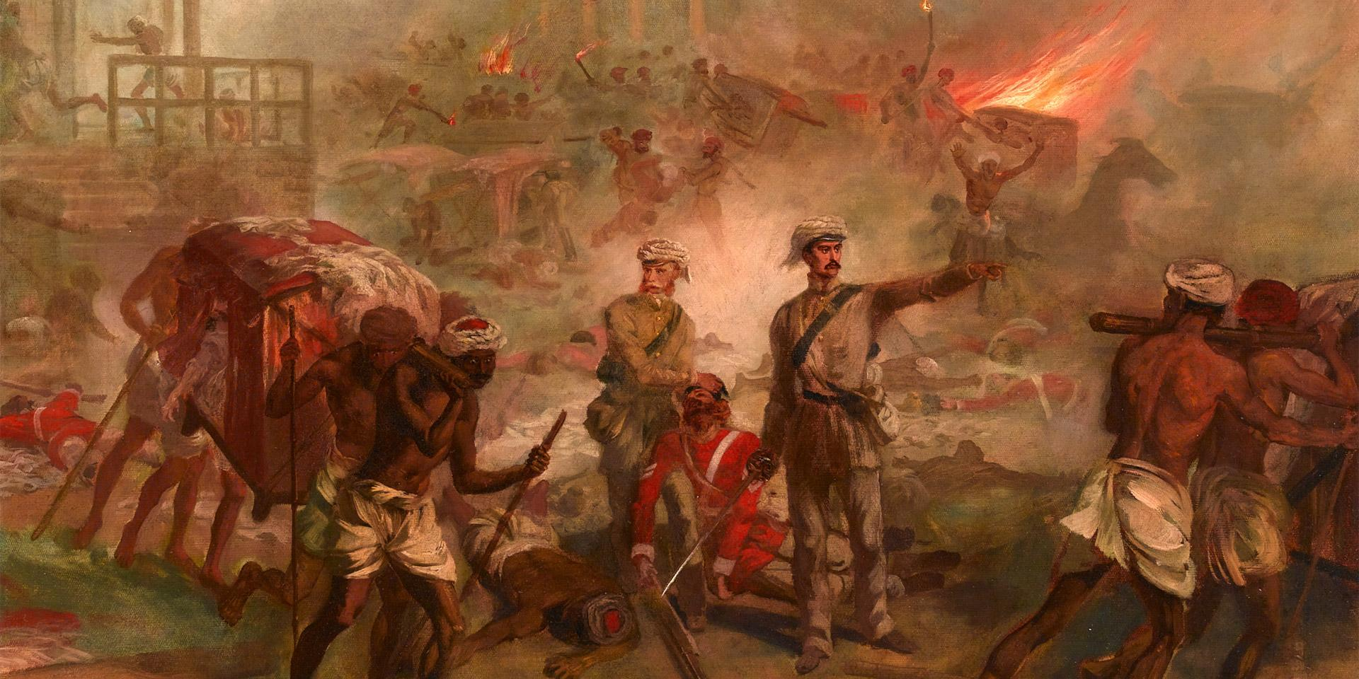 Surgeons Anthony Dickson Home and William Bradshaw winning the Victoria Cross with Havelock's relief column, 26 September 1857