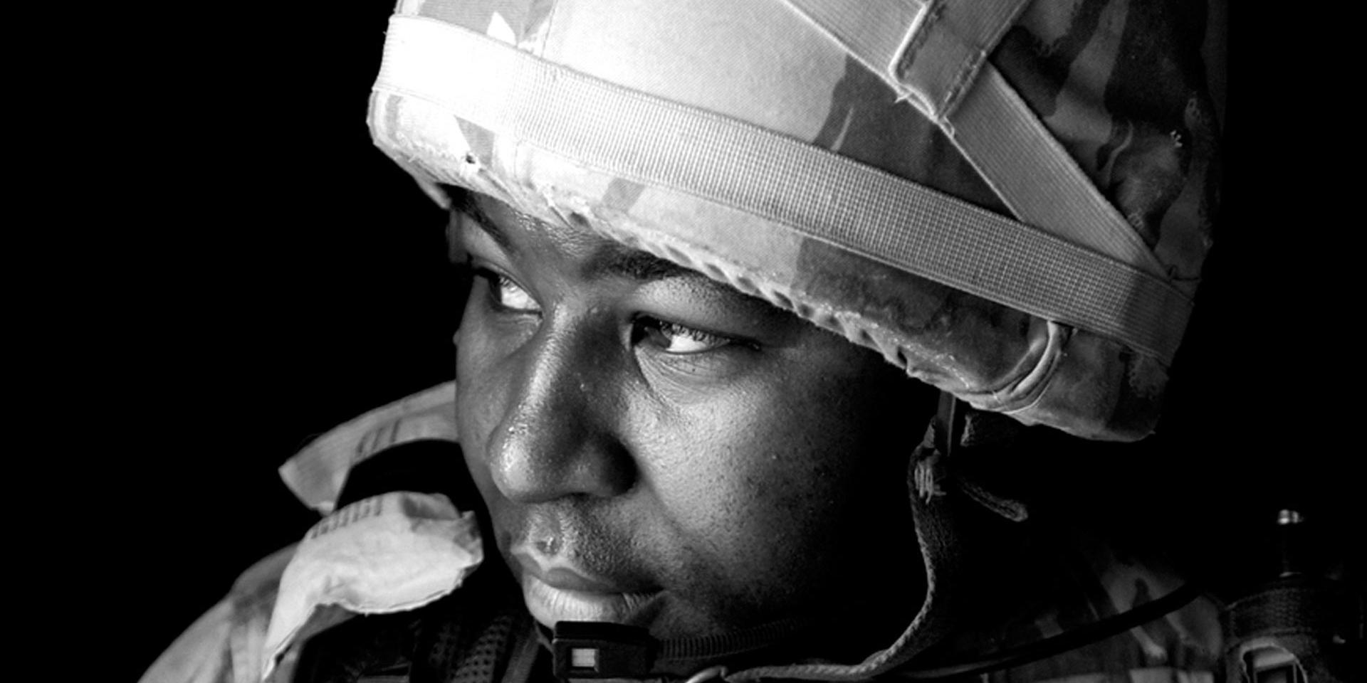 Reservist Sergeant Major Larry Davis serving as Community Liaison Officer in Iraq, 2004